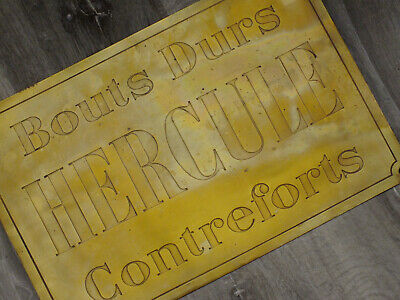 1930s Hercule Brass Nameplate; Bouts Durs; Contreforts: French; Superb Item