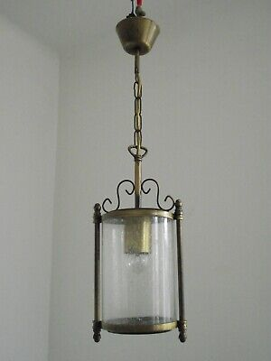 Super French Antique Bronzed Effect Metal Round Bubble Glass Hall Lantern 1416