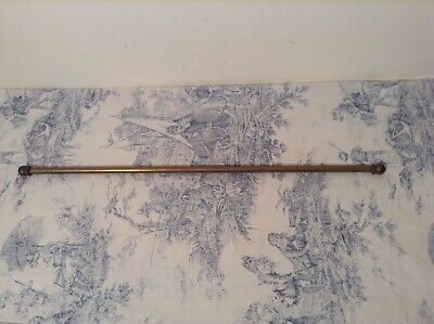 Vintage French Brass Cafe Curtain Rod / Carpet Stair Rod (54-88cm)