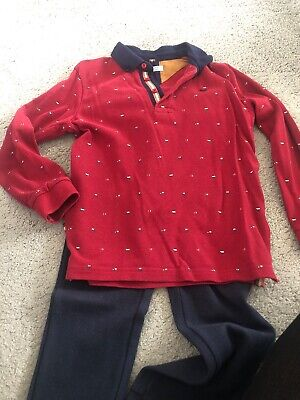 Boys Mayoral Polo Top  And Trousers Size 5