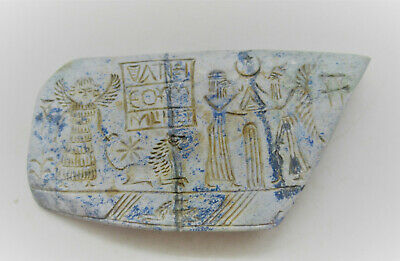 Circa 3000Bc Ancient Near Eastern Lapis Lazuli Tablet With Early Form Of Writing