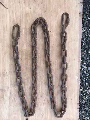 HEAVY DUTY STEEL SHORT LINK WELDED CHAIN 40mm x 30mm x 8mm x 1.8 metres