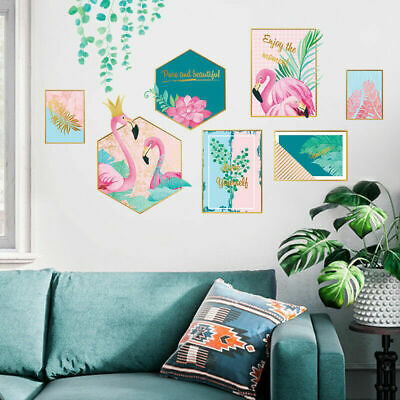 DIY Pink Flamingo PVC Picture Vinyl Removable Nursery Mural Decal Wall Sticker