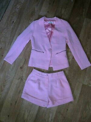 Girls River Island Suit Age 7 Years Baby Pink