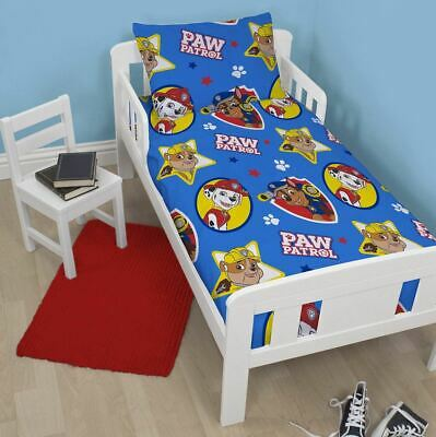 Paw Patrol Pawsome Junior Toddler Cot Bed Bundle, Inc Duvet, Pillow, Bedding