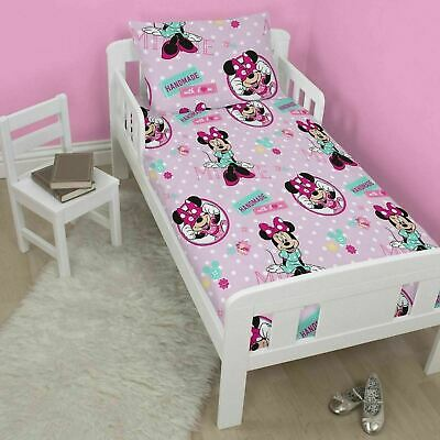Disney Minnie Mouse Handmade Junior Toddler Cot Bed Bundle Inc Duvet & Pillow