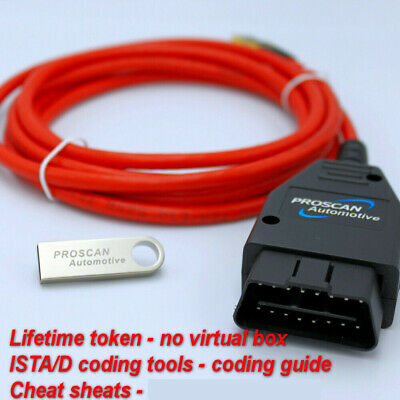 BMW ENET ESys ISTA  Diagnostic Coding OBD Cable Tool Launcher PRO UNLIMITED