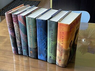 Harry Potter Complete Book Set 1-7  J.K. Rowling w/Jackets • 1st Edition