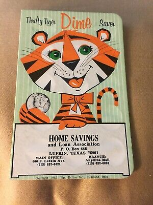 HURRY! Last One!!!!Vintage Thrifty Tiger Dime Saver Bank 1963 Lufkin TEXAS.