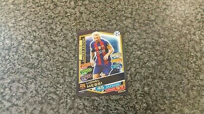 Match Attax 2016/17 Ucl Lionel Messi🌟Gold🌟Limited Edition Mint