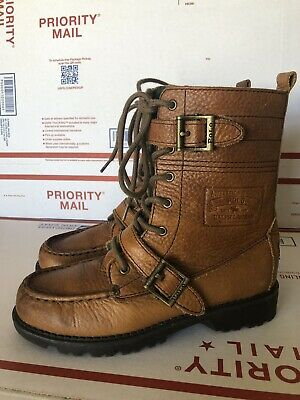 Kids Polo by Ralph Lauren Boys Ranger? Leather Ankle Lace Up Size 2