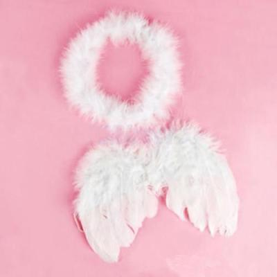 Angel Fairy Feather Wings Halo Christmas Fancy Dress Halloween Costume TO