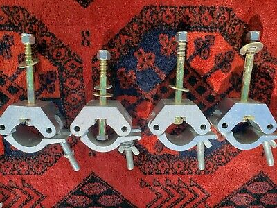 "Global Truss   FOUR  2"" pipe Clamps."