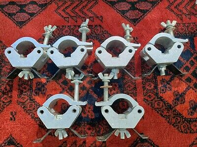 "For Global Truss   Six 2"" pipe clamps."