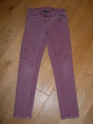 Next Jeans Trousers Girls Age 8 Pink Purple 99% Cotton