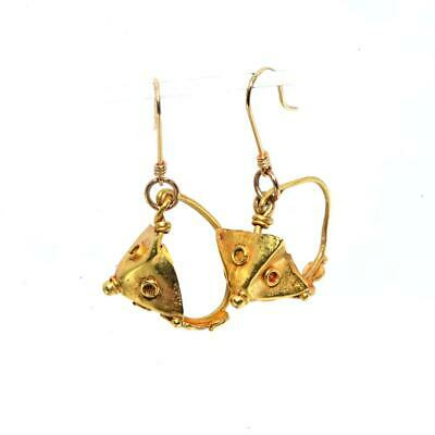 * A pair of Roman gold Pyramid Earrings, Roman Imperial Period, ca. 1st - 2nd Ce