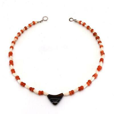 * A Bactrian Carnelian & Agate Bead Necklace, ca. 2nd millennium BCE