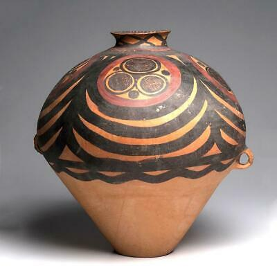 A Large Chinese Neolithic Painted Pottery Jar, Majiayao Yangshao Culture, Ma-cha