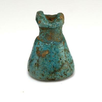 An Egyptian Faience Situla Amulet, Late Period, ca. 722-332 BCE