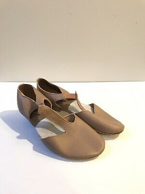 So Danca MD-03 Dancewear Suede Sole Grecian Sandal Tan Adult Width Medium