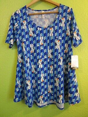 ❄ NWT LuLaRoe PERFECT T Shirt Top * DISNEY Frozen Olaf * Size Small (8-14) ❄