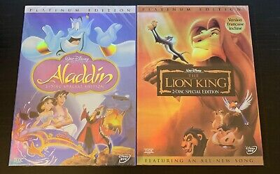 Disney's: Aladdin & The Lion King DVD Bundle (Brand New / USPS First Class Ship)