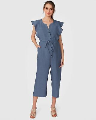 Pea in a Pod Joy Jumpsuit in Denim Maternity Pregnancy Clothing
