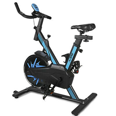 Xspec Max Pro Stationary Upright Exercise Bike w/ 25 lbs Flywheel, Blue