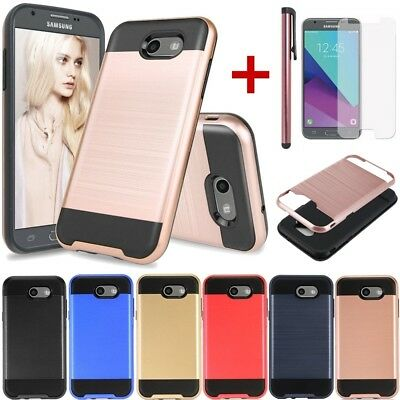 For Samsung Galaxy J7 Sky Pro/J7 2017/Halo/Prime Hybrid Rugged Ultra Slim Case
