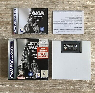 Star Wars GBA Gameboy Advance Trilogy Apprentice of the Force With Box & Manuals