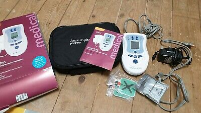 Lloyds Pharmacy HEATED Tens Machine Muscular Pain Sciati Relief with electrodes