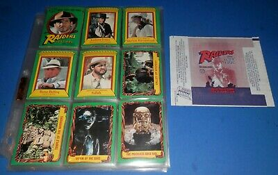 1981 Scanlens Raiders of The Lost Ark Complete Set 88/88 Cards + Wrapper