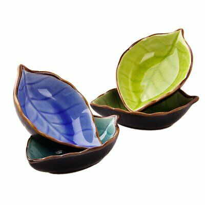 Leaf Ceramic Small Dish Ice Cracked Glaze Seasoning Sauce Vinegar lw