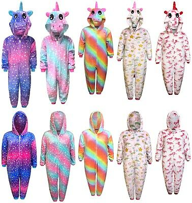 Kids Unicorn 1Onesie Girls Pyjamas Boys Sleepsuit Gifts for Children Animal