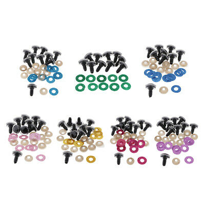 10x 16mm Colored Plastic Safety Eyes Washers for Animal Toy Teddy Bear Dolls