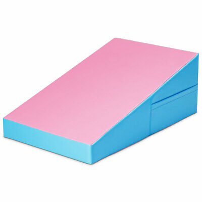 Incline Gymnastics Mat Wedge Ramp Gym Fitness Skill Practice Tumbling Pink Blue