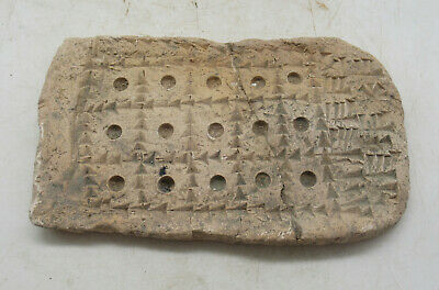 Scarce Circa 2000Bce Ancient Near Eastern Clay Tablet With Early Form Of Writing