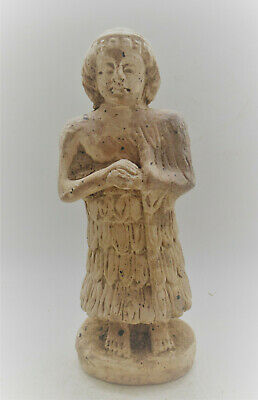 Circa 2000Bce Ancient Near Eastern Terracotta Worshipper Statuette