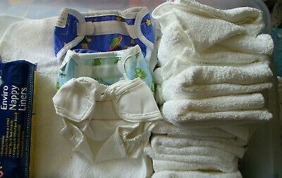 Washable Nappies Flat Size 1/2/3/4/5 Nappy Nation  used