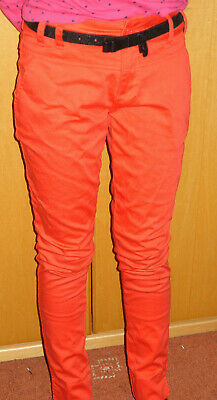 Girls Purple Red Smart Trousers Age 11