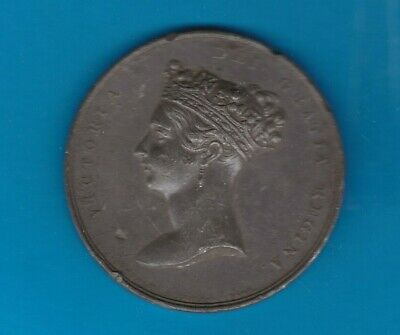 1837 Visit Of Queen Victoria White Metal Medal In Near Very Fine Condition.