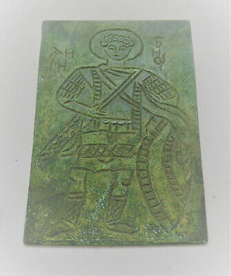 European Finds Ancient Roman Bronze Plaque With Military Inscription & Gladiator