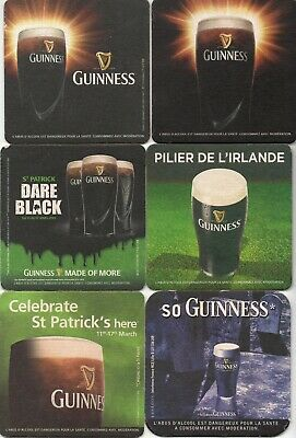 6 sous bock bière GUINNESS - beer mats coasters for France - lot 2