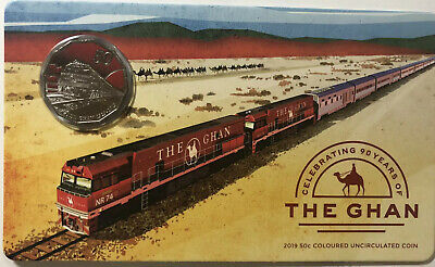 2019 Australia The Ghan - Celebrating 90th Anniversary 50c Coin