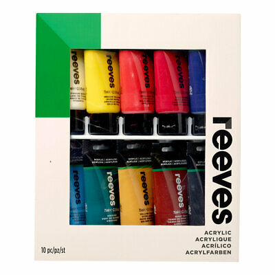 Reeves Acrylic Paint Set 10 x 75ml