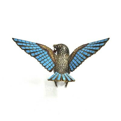 Tibet buddhism Pure Silver inlay Turquoise Little Bird Hummingbird Animal Statue