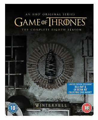 Game of Thrones: Season 8 [2019] (4K Ultra HD + Blu-ray Steelbook) Emilia Clarke