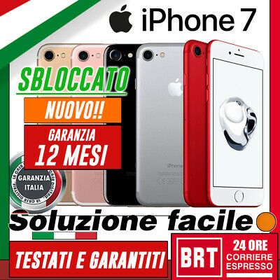 Smartphone Apple Iphone 7 32Gb/128Gb/256Gb Nuovo! Originale! 12 Mesi Garanzia!