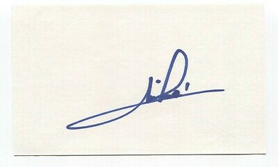 Mario Andretti Signed 3x5 Index Card Autographed Signature Race Car Driver