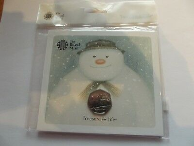 R/Mint 50P Coin Presentation Pack - The Snowman and James by Raymond Briggs ABD